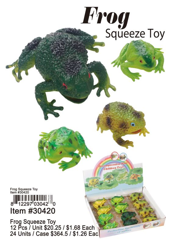 Frog Squeeze Toy - 12 Pieces Unit