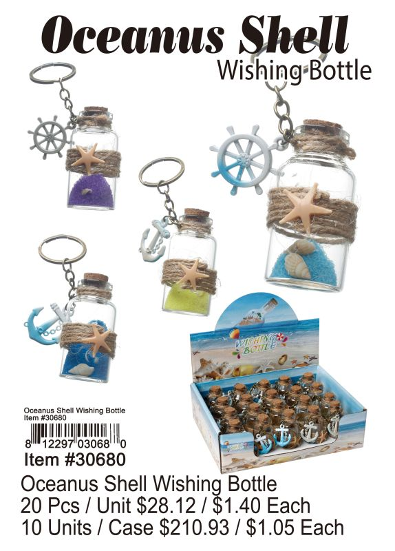 Oceanus Shell Wishing Bottle - 20 Pieces Unit