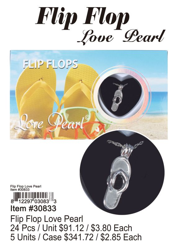 Flip Flop Love Pearl - 24 Pieces Unit