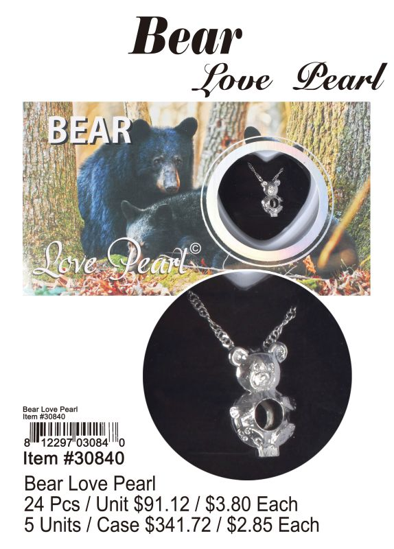 Bear Love Pearl - 24 Pieces Unit