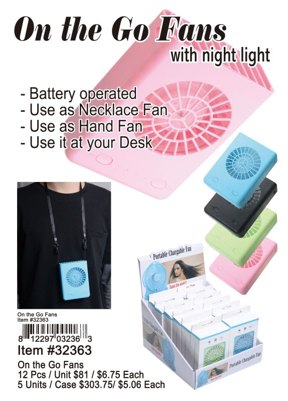 On the Go Fans Wholesale