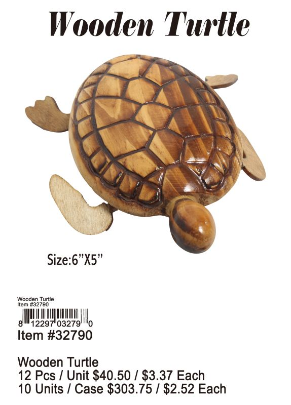 Wooden Turtle - 12 Pieces Unit