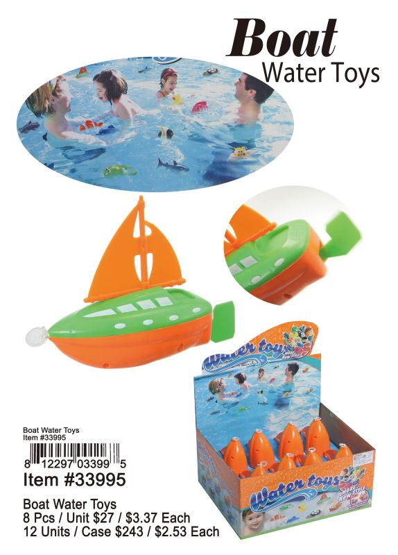 Boat Water Toys - 8 Pieces Unit