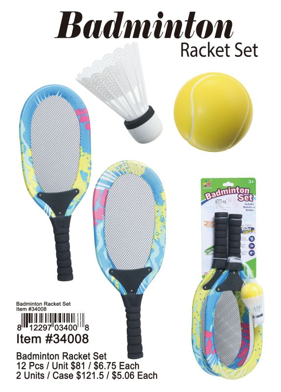 Badminton Racket Set - 12 Pieces Unit