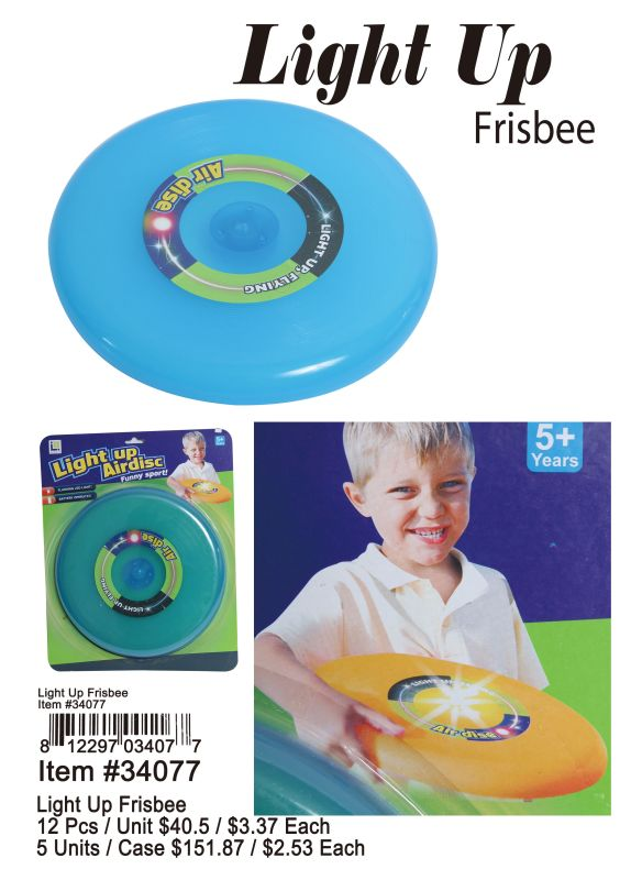 Light Up Frisbee - 12 Pieces Unit