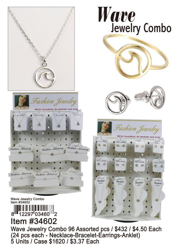 Wave Jewelry Combo - 96 Pieces Unit