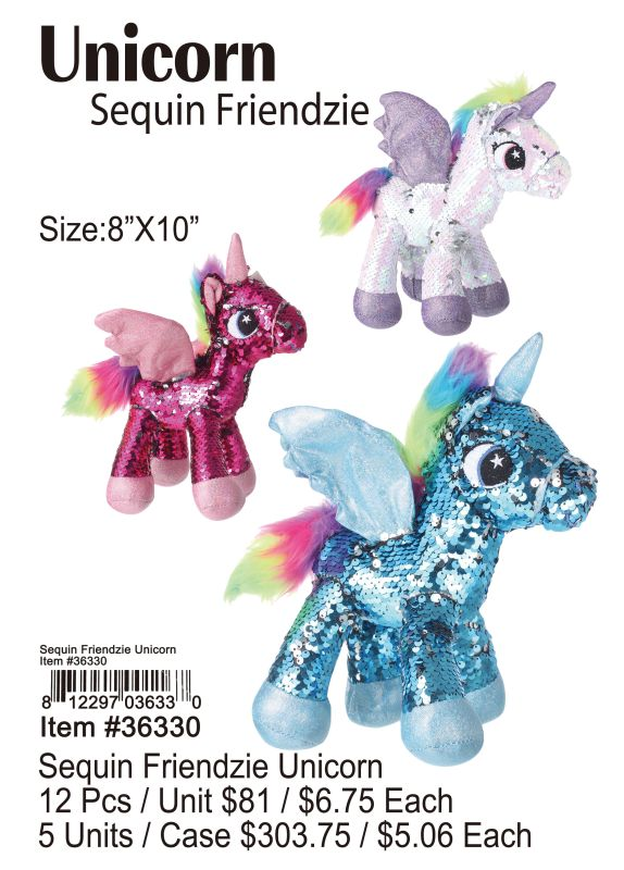 Sequin Friendzie Unicorn Wholesale