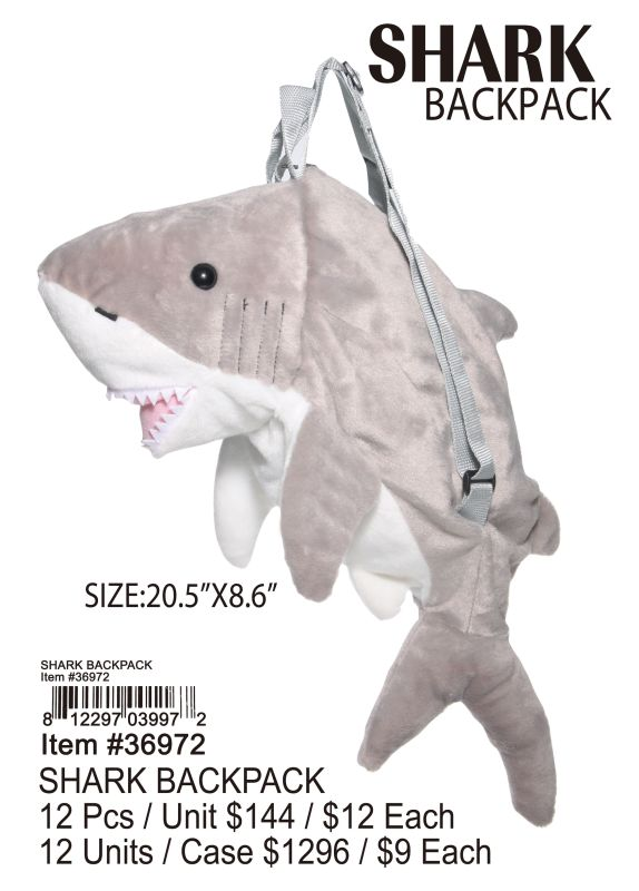 Shark Back Pack - 12 Pieces Unit