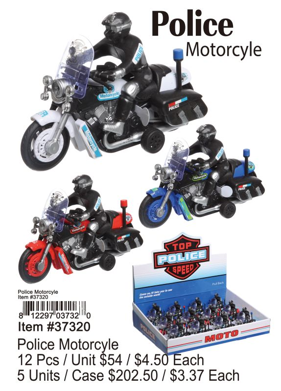 Police Motorcycle - 12 Pieces Unit
