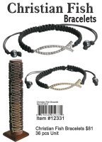 Wholesale Christian Fish Bracelets