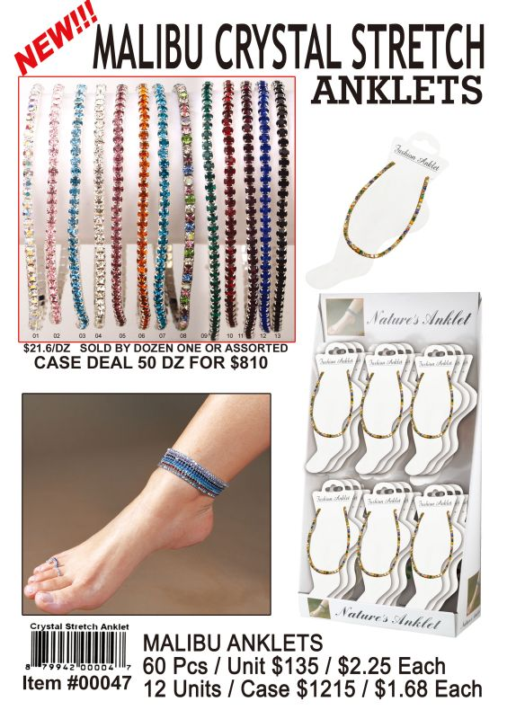 Malibu Anklets - 60 Pieces Unit