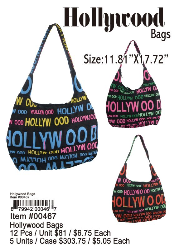Hallywood Bags - 12 Pieces Unit