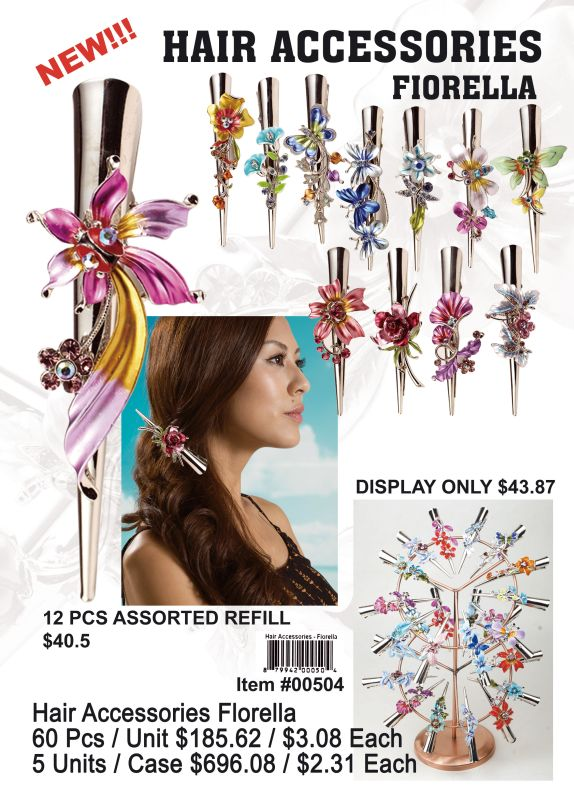 Hair Accessorise Florella - 60 Pieces Unit