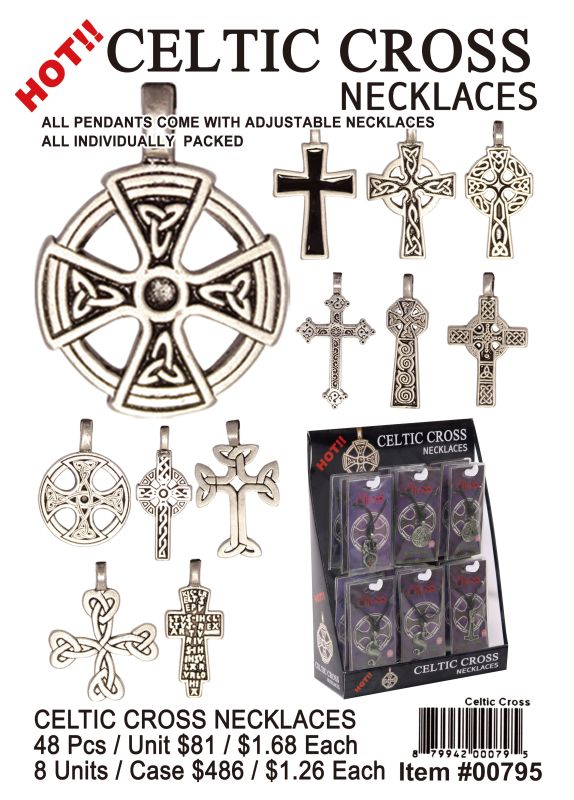 Celtic Cross Necklaces - 48 Pieces Unit