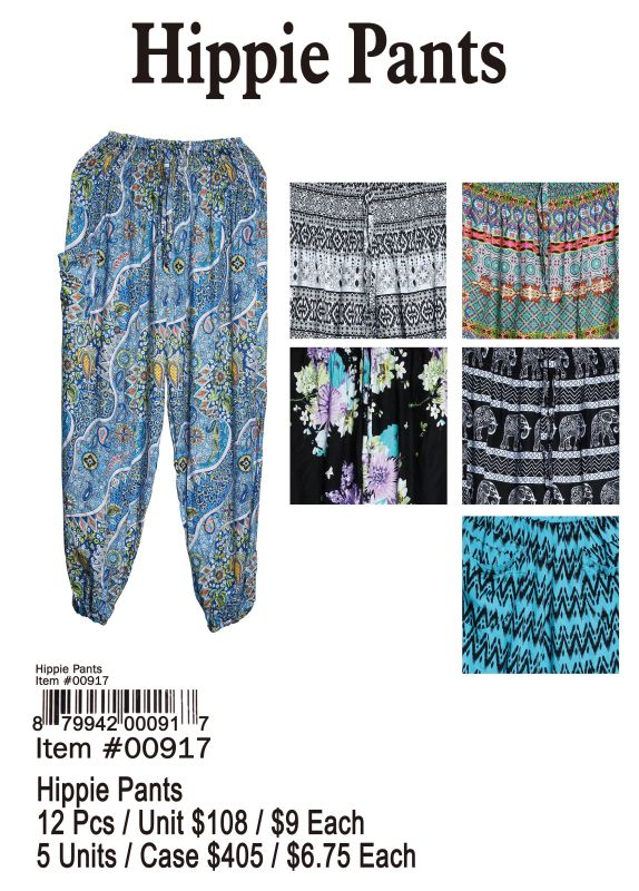 Hippie Pants - 12 Pieces Unit