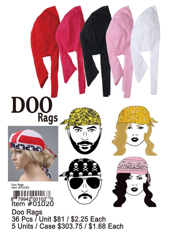 Doo Rags - 36 Pieces Unit