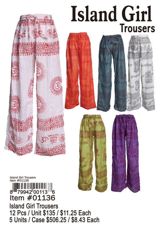 Island Girl Trousers - 12 Pieces Unit