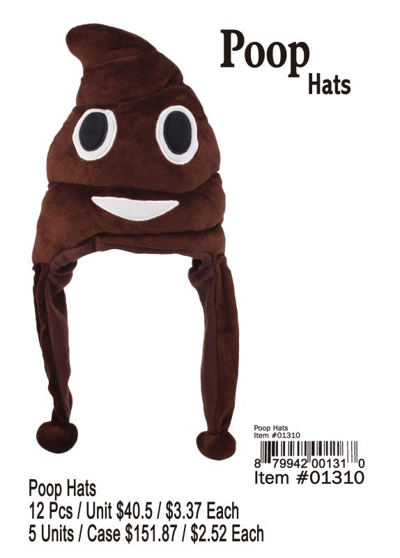 Poop Hats - 12 Pieces Unit