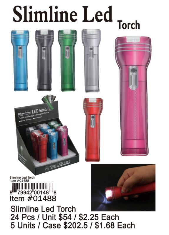 Slimline Led Torch - 24 Pieces Unit
