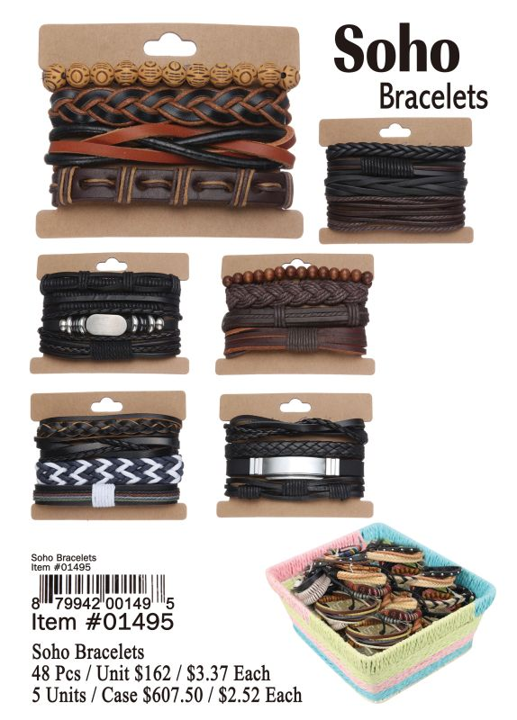Soho Bracelets - 48 Pieces Unit