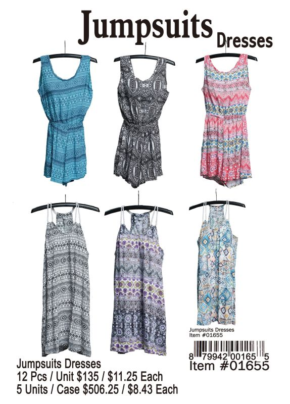 Jumpsuits Dresses - 12 Pieces Unit