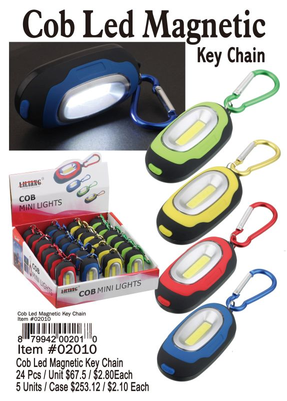 Cob Led Magnetic Key Chain - 24 Pieces Unit