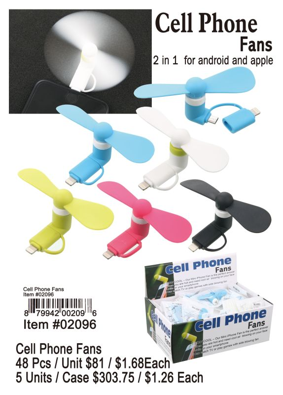 Cell Phone Fans - 48 Pieces Unit