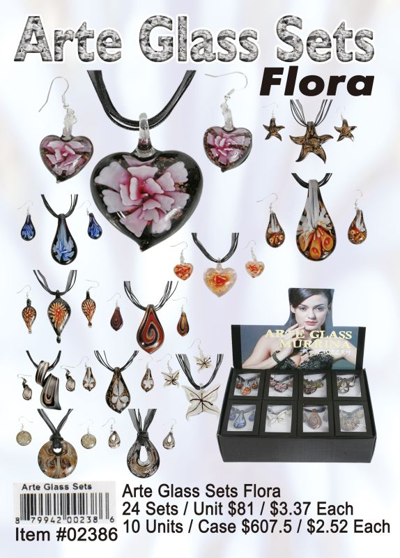 Art Glass Sets Flora - 24 Pieces Unit