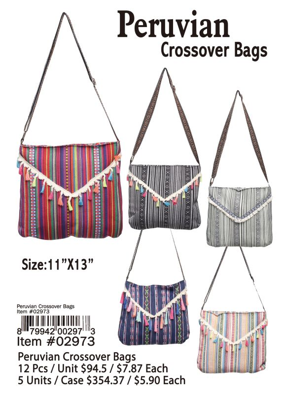 Peruvian Crossover Bags - 12 Pieces Unit