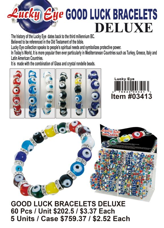 Good Luck Bracelets Deluxe - 60 Pieces Unit