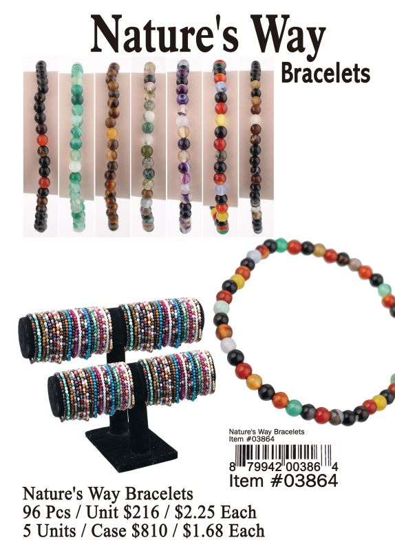 Natures Way Bracelets - 96 Pieces Unit
