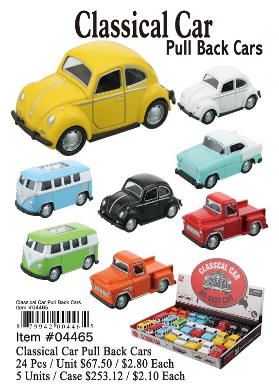 Classical Car Pull Back Cars - 24 Pieces Unit