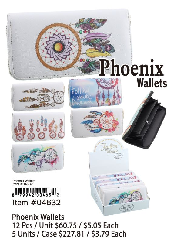 Phoenix Wallets - 12 Pieces Unit