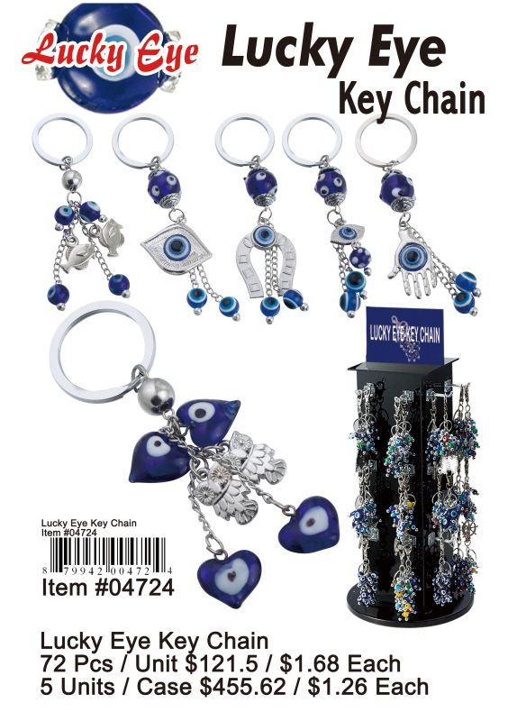 Lucky Eye Key Chain - 72 Pieces Unit