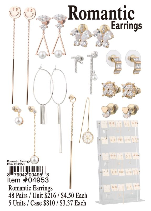 Romantic Earrings - 48 Pieces Unit