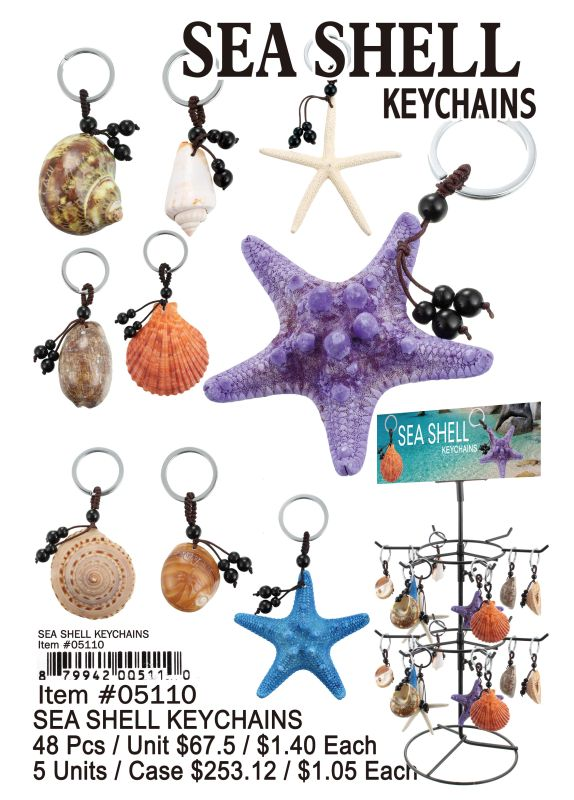 Sea Shell Key Chain - 48 Pieces Unit