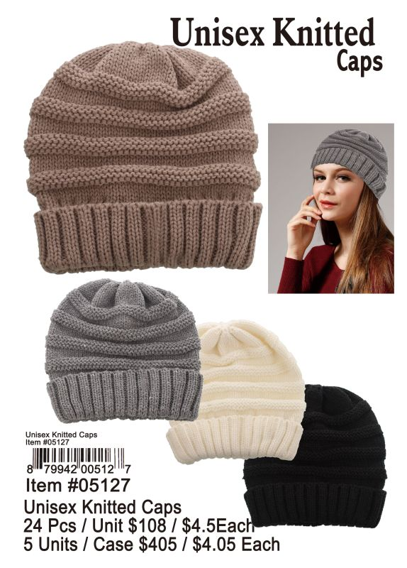 Unisex Knitted Caps - 24 Pieces Unit