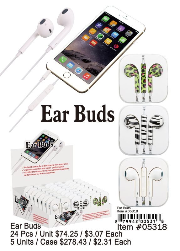 Ear Buds - 24 Pieces Unit