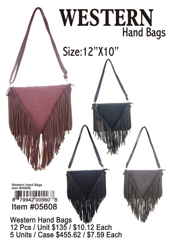 Western Hand Bags - 12 Pieces Unit
