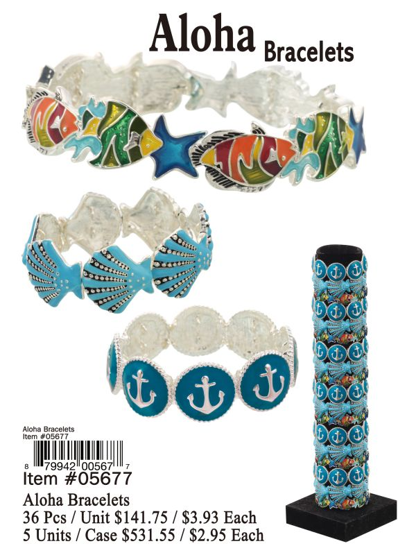 Aloha Bracelets - 36 Pieces Unit
