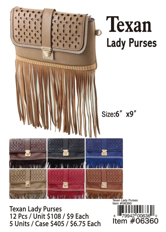 Texan Lady Purses - 12 Pieces Unit