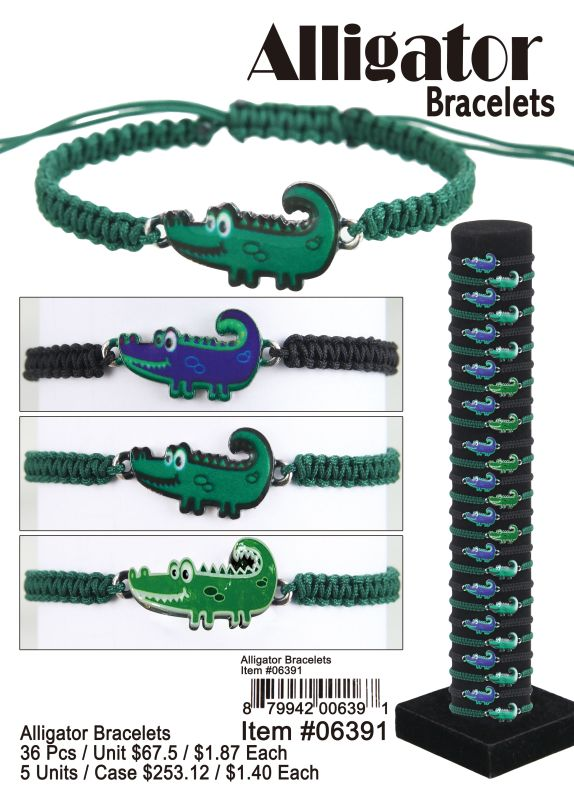 Alligator Bracelets - 36 Pieces Unit