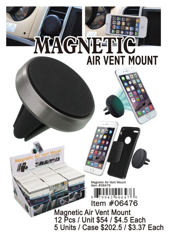 Magnetic Air Vent Mount - 12 Pieces Unit
