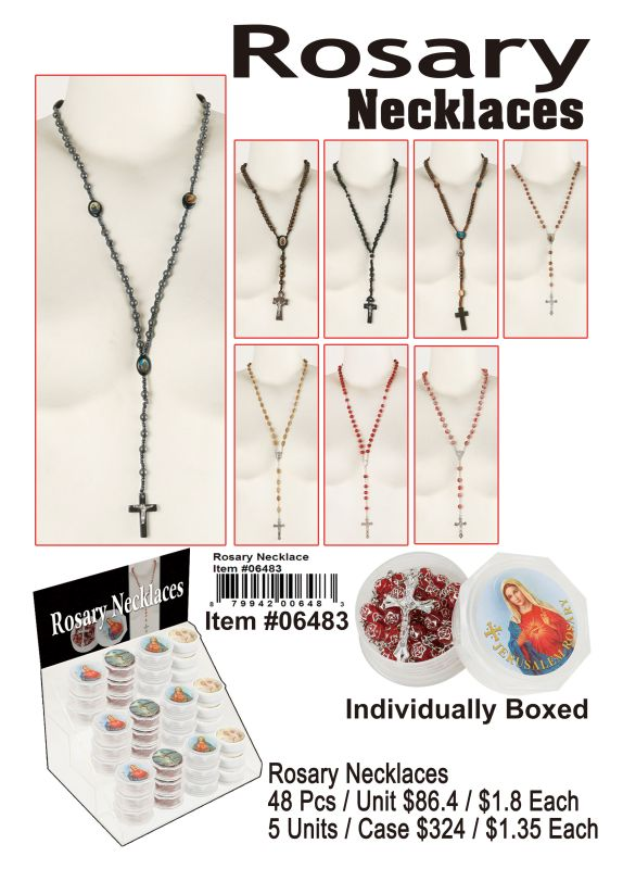 Rosary Necklaces - 48 Pieces Unit