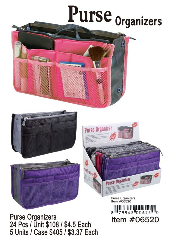 Purse Organizers - 24 Pieces Unit