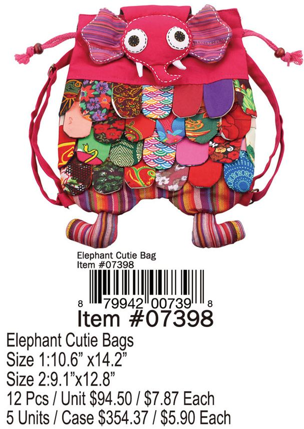 Elephant Cutie Bags - 12 Pieces Unit