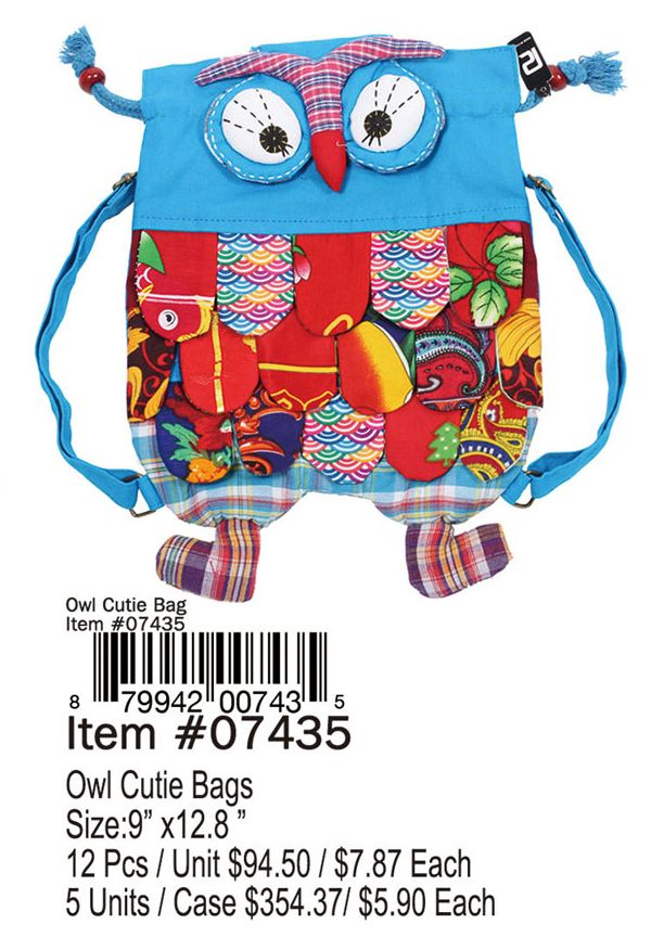 Owl Cutie Bags - 12 Pieces Unit