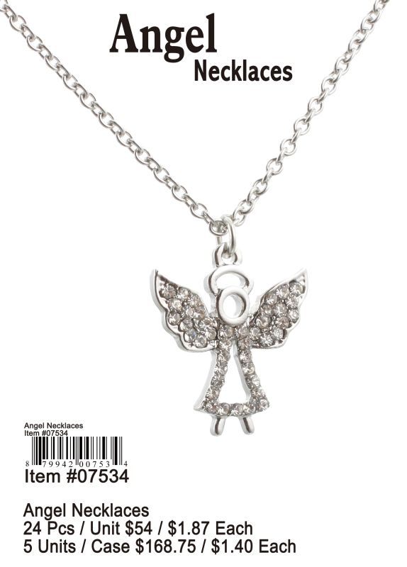 Angel Necklaces - 24 Pieces Unit
