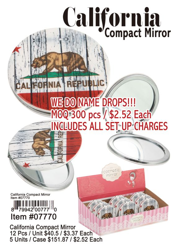 California Compact Mirror - 12 Pieces Unit