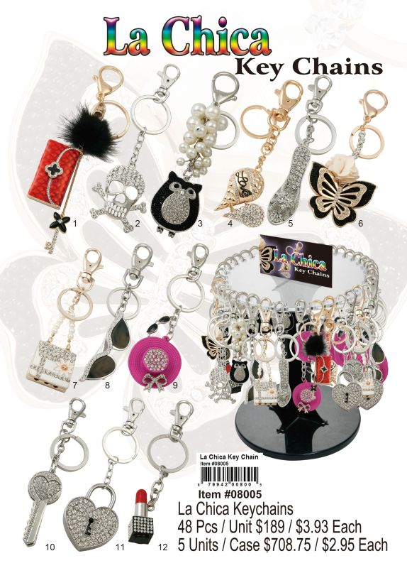 La Chica Key Chains - 48 Pieces Unit